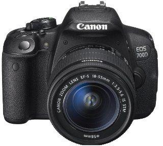 كاميرا كانون اي او اس 700 دي 18 - 55 ملم (18 ميجابكسل، دي اس ال ار، افلام عالية الوضوح) - اسود