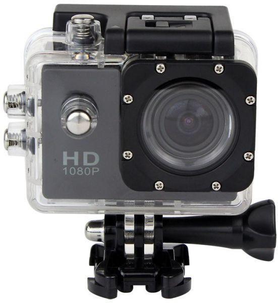 اكشن كاميرا رياضية فل اتش دي DVR للغطس لغاية 30 متر ضد الماء 1080P جي سينور لون اسود